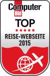 Computer Bild TOP Reise Webseite 2015